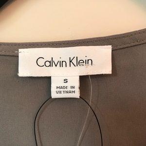 Calvin Klein Tops - *CALVIN KLEIN* NWT Ash Grey Silky Blouse - Sz S